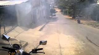 Marcelo da Hornet red fritando pneu
