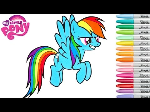 My Little Pony Coloring Book Rainbow Dash MLP Colouring Pages Rainbow Splash