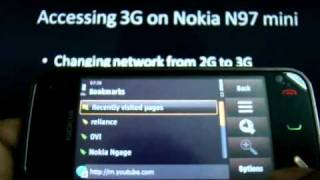 Setting up Reliance 3G services on Nokia N97 mini