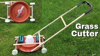 Amazing DIY Lawn Mower - How to Make a Mini Grass Cutter Machine - incredible idea