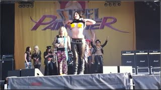 Steel Panther Big Boobs on stage Sweden Rock Festival 2012