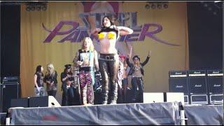 Steel Panther Big Boobs on stage Sweden Rock Festival 2012