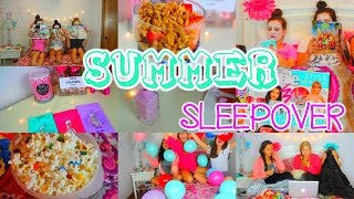Summer Sleepover!! Essentials, What To Do & DIY