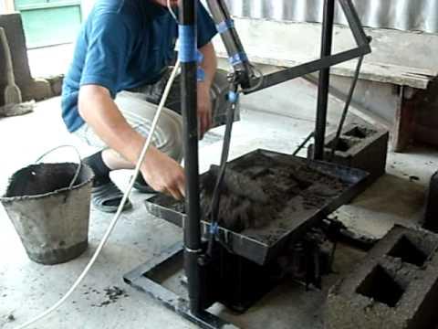 Как сделать руками станок для шлакоблока