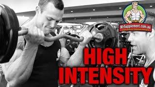 High Intensity EZ Bar Bicep Curl