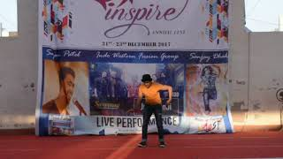 Live Dance performance by Sanjay Dhakha during Annual Fest