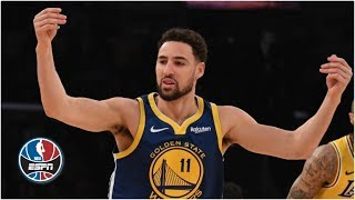 Klay Thompson hits his first 10 3-pointers in 44-point outburst | NBA Highlights