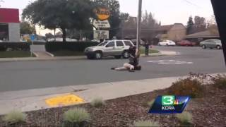 Man Asks Cop Nicely To Stop Blocking Traffic, Cop Beats Him With Flashlight & Stomps On His Head