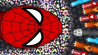 BIGGEST SLITHER.IO SNAKE EVER...!?!?! Spider-Man: Homecoming Official SNAKE TOP PLAYER GAMEPLAY!