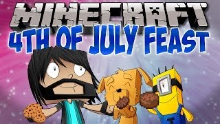 4TH OF JULY FEAST!! | Think's Lab Minecraft Mods [Minecraft Roleplay]