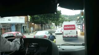 ADO saliendo de la terminal Oaxaca
