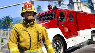 PLAYING AS A FIREFIGHTER ONLINE! *HILARIOUS!*   GTA 5 THUG LIFE #166
