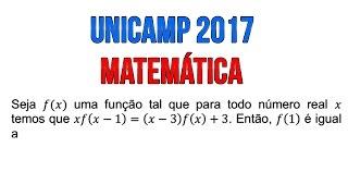 Questão 16 Resolvida Unicamp 2017 (Correção prova Q e Y)