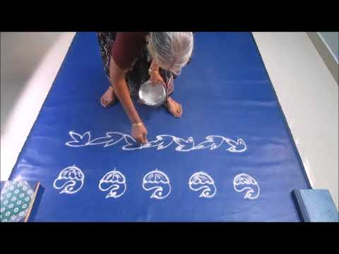 Border  kolam  designs with & without dots