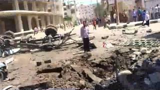 درعا الصنمين المكتب الاعلامي انفجار سيارة مفخخة...