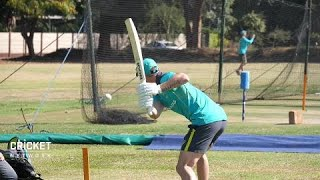 Maddinson suffers nasty cut as Aussies hit training track