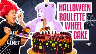 How To Make A GROSS-Tacular Surprise Inside HALLOWEEN ROULETTE CAKE   Yolanda Gampp   How To Cake It