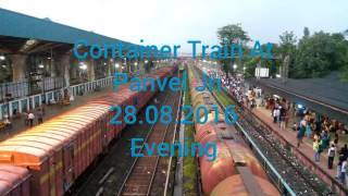 Container train hauled by WAG 9 at Panvel Jn.