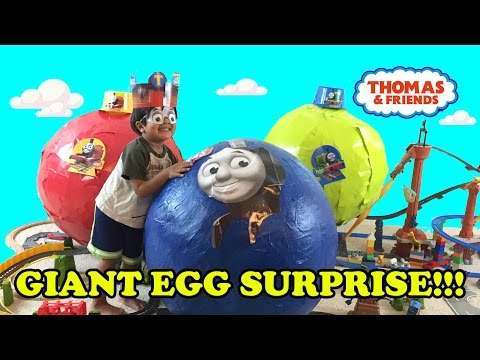 Xxx Mp4 GIANT EGG SURPRISE OPENING Thomas And Friends Toy Trains 3gp Sex
