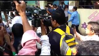 Shivsena party chief Uddhav Thackeray and his entire family cast their vote