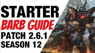 Patch 2.6.1 Barbarian Starter Build Guide Season 12 Diablo 3