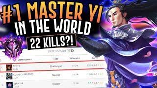 THE NUMBER 1 MASTER YI IS INCREDIBLE!! Masters Jungle - League of Legends
