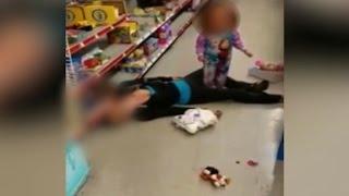 Video shows mom overdose beside toddler