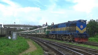 Beautiful Silk City Express Train of Bangladesh Railway