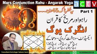 Mars Conjunction Rahu   Angarak Yoga   Dangerous Times   P1  Vedic Astrology   Saleem Sami Astrology
