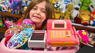 HUGE Toy Shopping Cart Surprise Toys for Kids Girls Blind Bags & Surprise Eggs Kinder Playtime