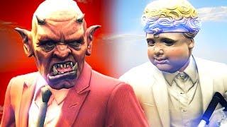 DEVILS vs. ANGELS MINIGAME! (GTA 5 Funny Moments)