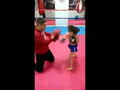 niño kickboxing (little kid kickboxer)