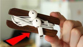 Make This AWESOME Earphone Holder in 5 Minutes! | DIY Project