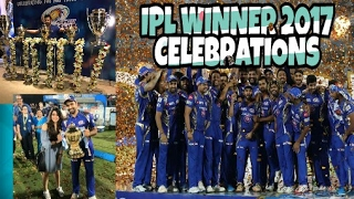 Mumbai Indians Winning Celebration | Neeta Ambani Celebrates Winning Moment | 2017 Vivo IPL winners
