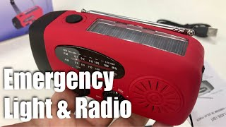 Hand Crank Dynamo Solar Emergency NOAA Weather Radio by iRonsnow Review