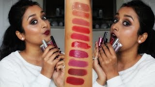 My Top 10 Winter Lipsticks + Lip Swatches | For Indian/Brown/olive Skin Tone