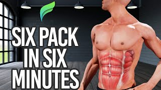 6 Pack Abs in 6 Minutes - Best Workouts for a 6 Pack ABS at Home