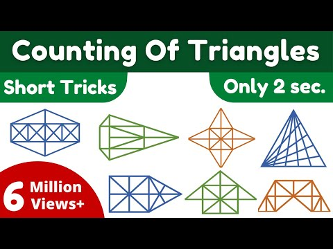 Counting of figures Part 2 किसी आकृति में त्रिभुज की संख्या पता करना By Kd. Prasad