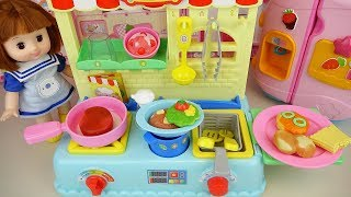 Baby doll restaurant Kitchen cooking toy baby Doli play