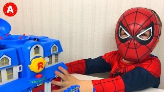 🚗 Super-Héros SpiderMan Déballe Jouet Voiture RoboCar Poli 👍