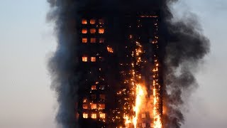 Scenes from London highrise fire