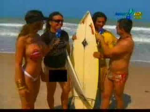 Mulher Samambaia e Cristian Pior em Praia de Nudismo