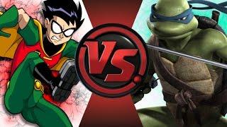 ROBIN vs LEONARDO! Cartoon Fight Club Episode 68