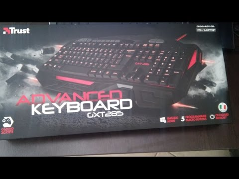 UNBOXING Advanced Gaming Keyboard GXT 285 TRUST ITA