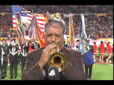 Arturo Sandoval, Trumpet, National Anthem 1/1/09 Orange Bowl
