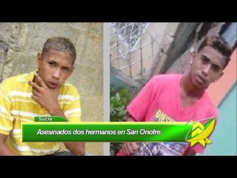 Asesinados dos hermanos en San Onofre Sucre
