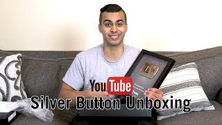 Youtube Silver Play Button Unboxing | David Lopez