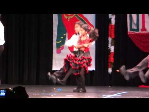Krish and group dance Diwali 2013