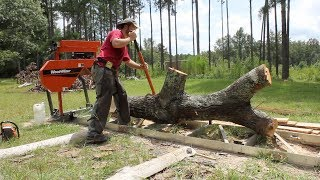 This log was ALMOST more than the mill could take!