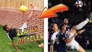 RECREATING ZLATAN BICYCLE KICK GOAL! FOOTBALL CHALLENGE